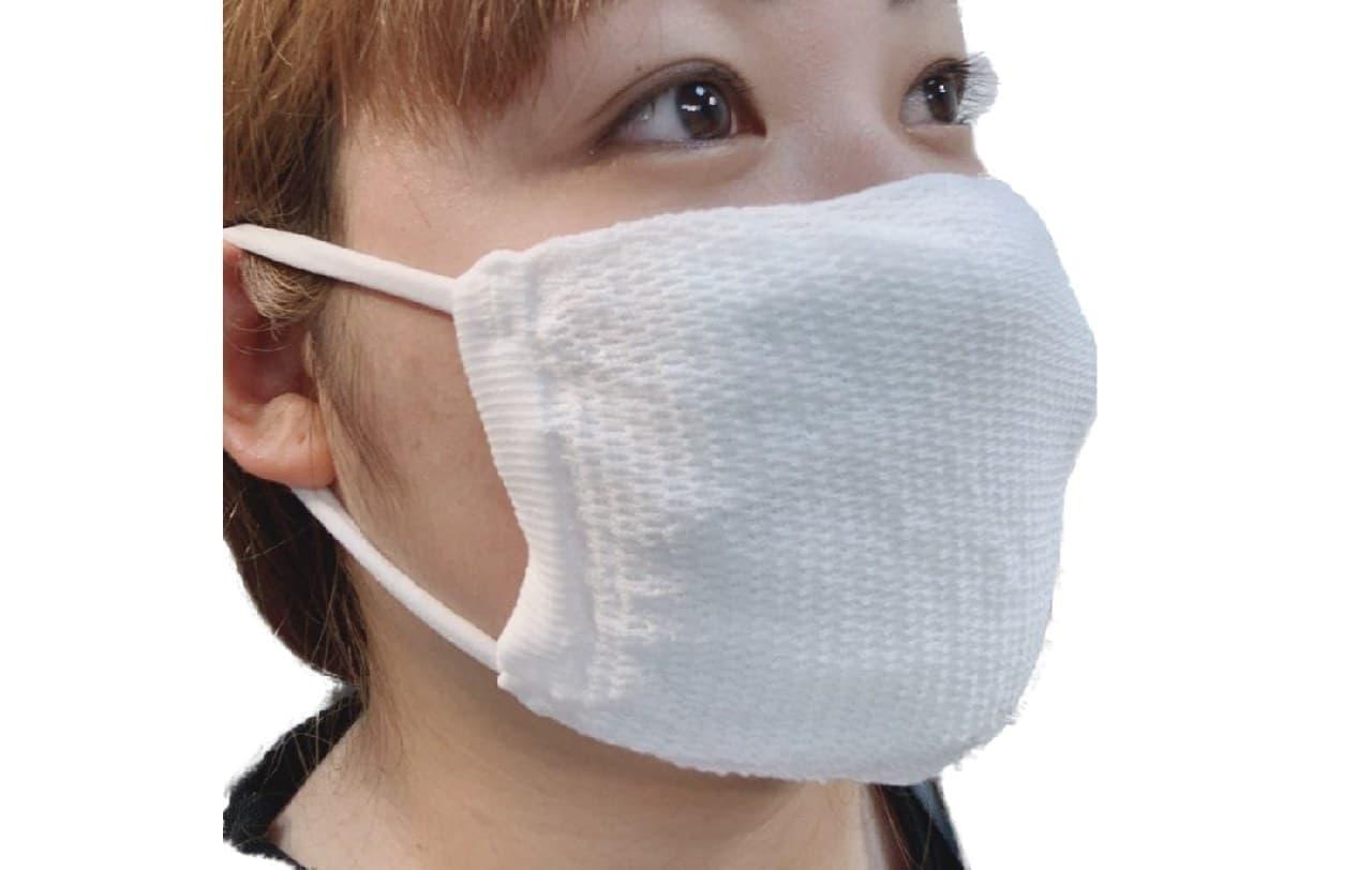 メッシュ生地採用で呼吸が楽な夏マスク 「夏用ニットマスク」 創業100年のイイダ靴下から