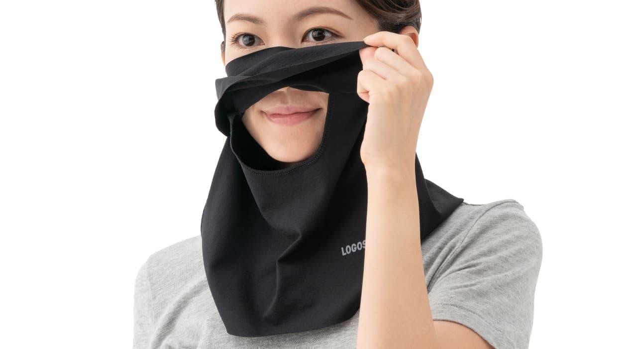 ジョギングにぴったりな夏マスク 装着したまま水分補給ができるLOGOSの「美フィットスキン UVフェイスマスク」
