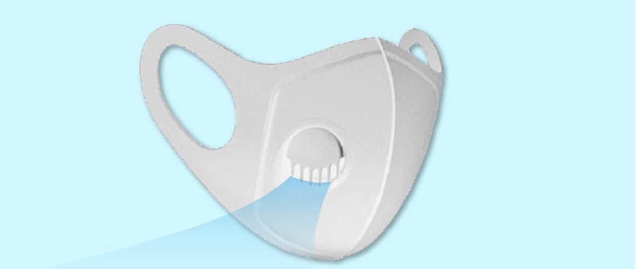 呼気がこもらない夏マスク「空気弁付き3Dウレタンマスク ver.2」