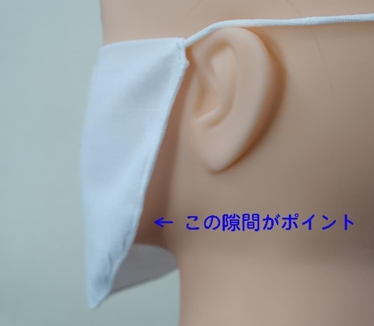 呼気を下に逃がすから暑くない 新発想の夏マスク「夏のさらしマスク」
