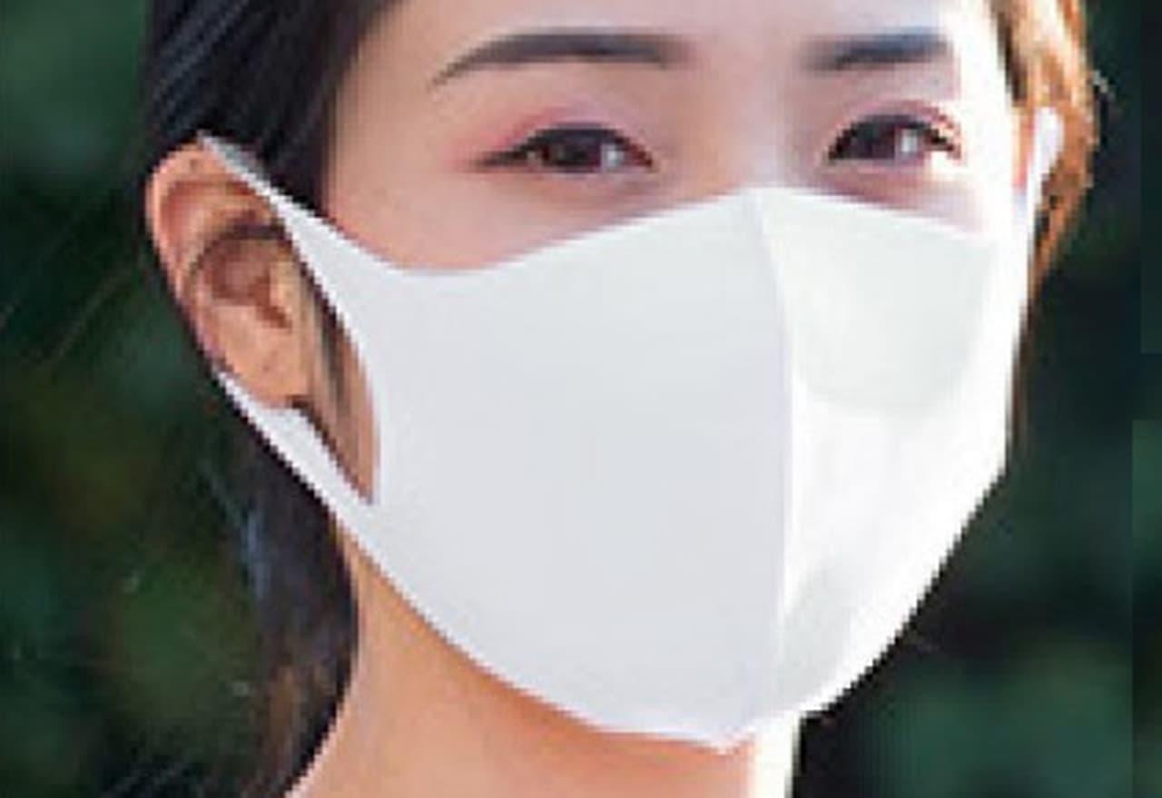 洗濯機で洗える夏マスク「接触冷感立体布マスク」