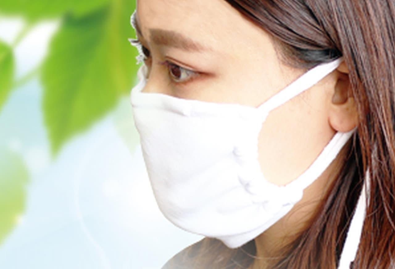 マスク熱中症対策に!「てぶくろ屋さんがつくったぬらしてヒンヤリ 抗菌・抗ウイルス クールマスク」うどん県てぶくろ市のメーカーが販売