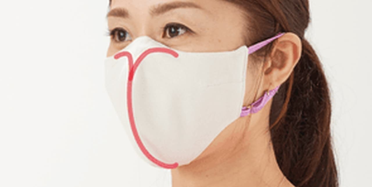 水に濡らすとひんやり涼しい なのに顔に張り付かないマスク「SportsMask(スポーツマスク)」 - 高機能素材とC型ワイヤーで実現
