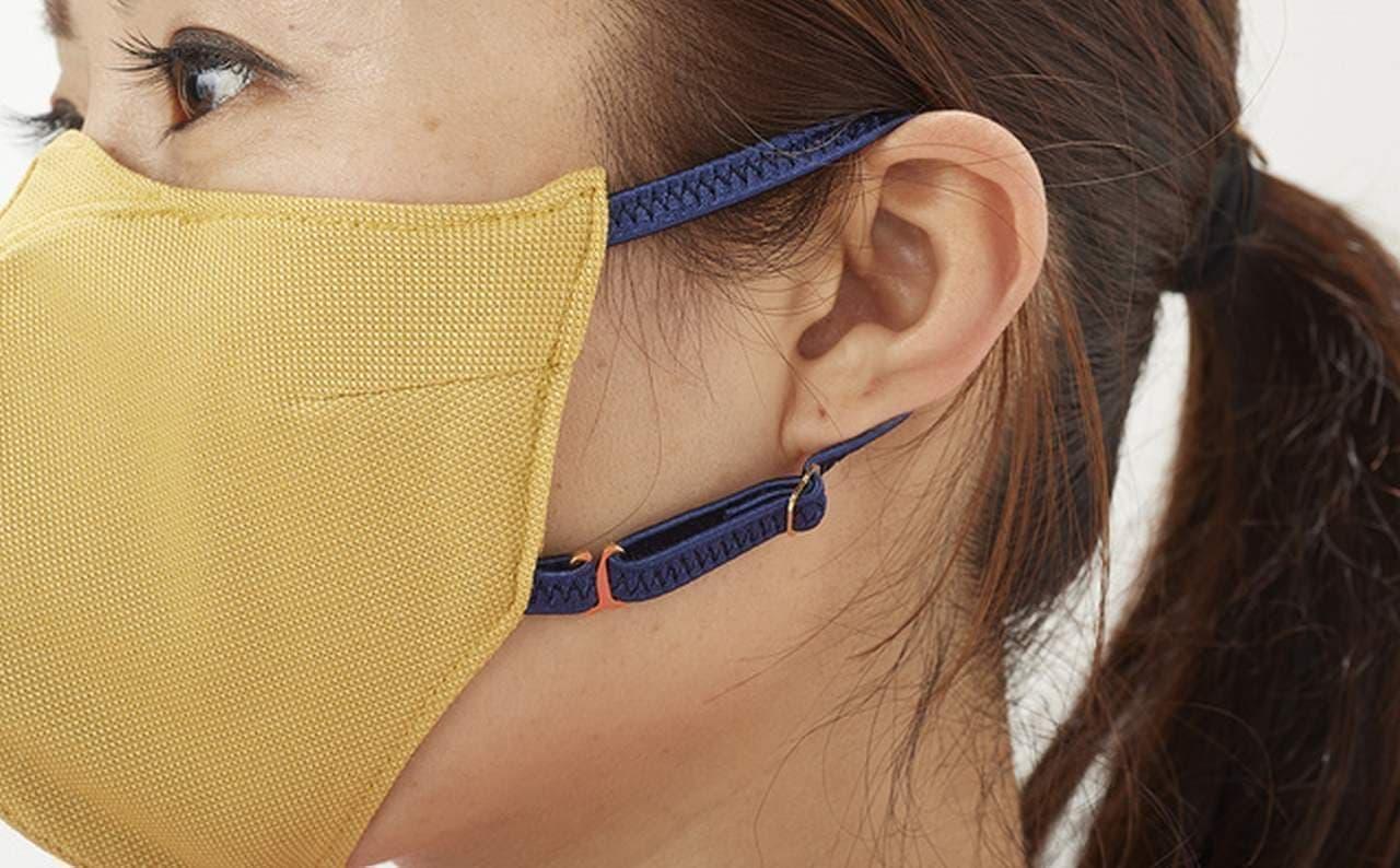 水に濡らすとひんやり涼しい なのに顔に張り付かないマスク「SportsMask(スポーツマスク)」