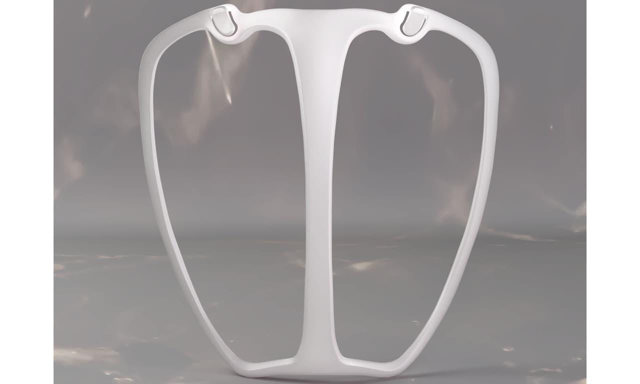 マスク熱中症対策に フレームで口元との間に空間を作るマスク「メイクキープフレーム専用ひんやり布マスク」
