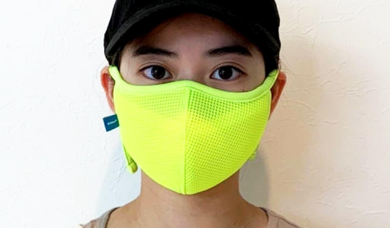 ッシュ素材を採用した「スポーツマスク エアーM」