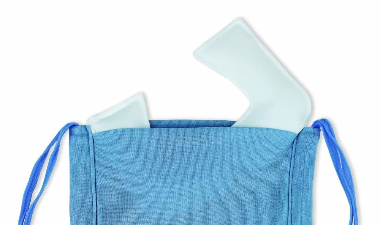 マスク熱中症対策に!保冷剤で顎まで冷やす「フォアシフォンマスク」+「クールスマイル」