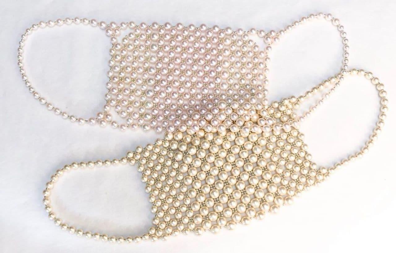 真珠でテンションがあがるマスク 本日受注開始 ― コットンパール あこや真珠で作ったラグジュアリーなマスク