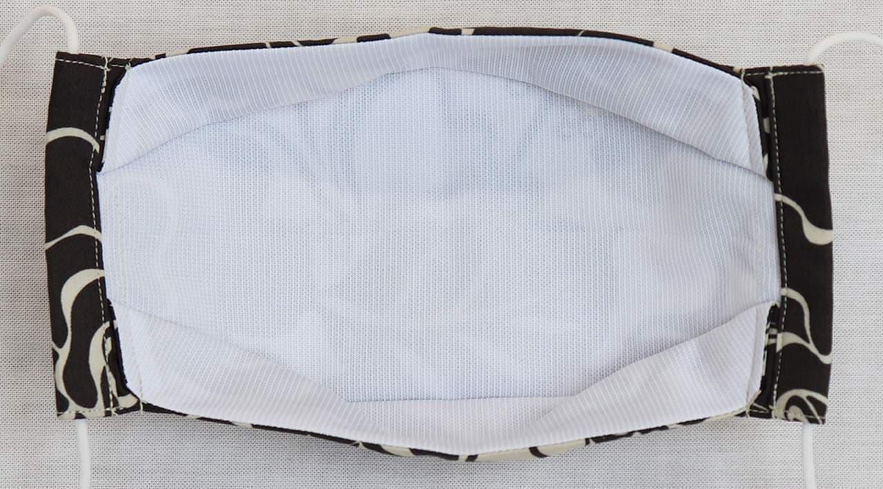 かりゆしウェア生地のマスク「MAJUNオリジナル布マスク」に吸汗速乾素材を使用した「MAJUNオリジナル夏用布マスク」