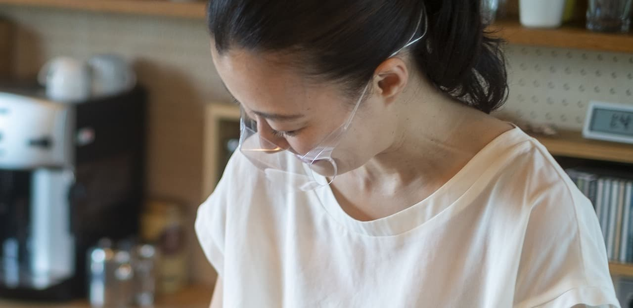 透明マスク「超軽量 透明立体エチケットマスク(組立式)」発売 ― 密着しないので暑くない!