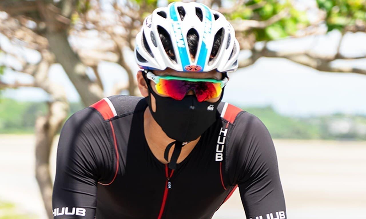 沖縄気分を味わえるスポーツマスク ラッシュガードを採用した「ラッシュガード夏マスク」