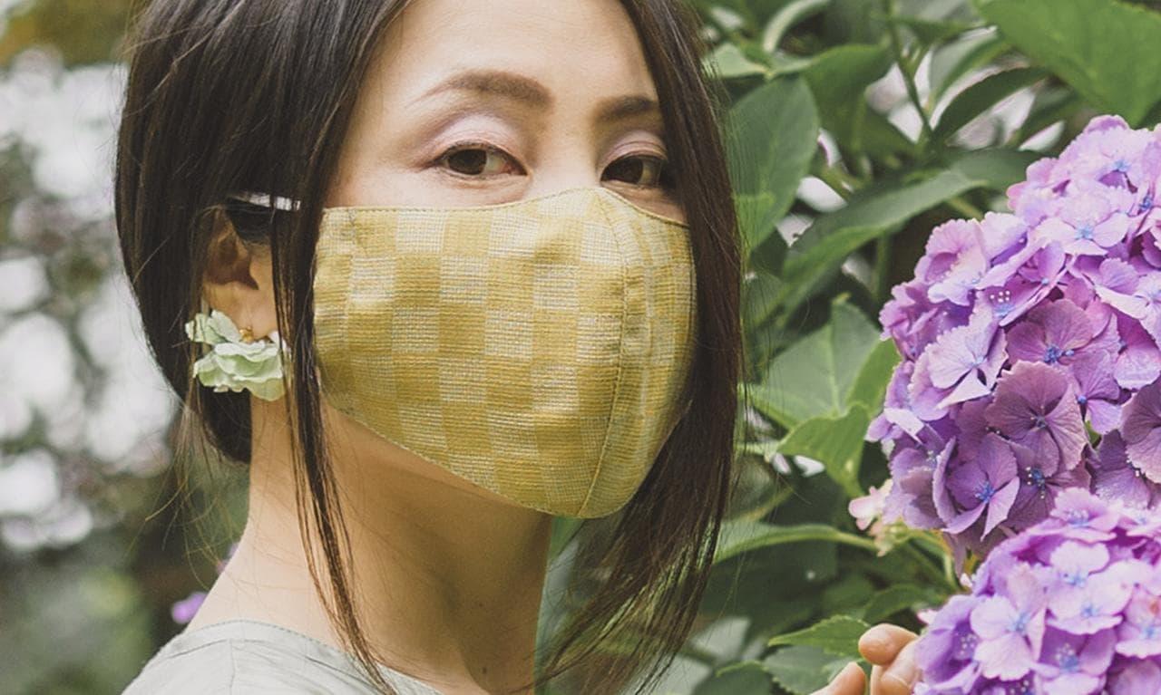 洗濯機で洗える「ひんやり麻マスク」7月8日予約受付開始 - 蒸れにくくシワになりにくい「NEO能登上布」使用