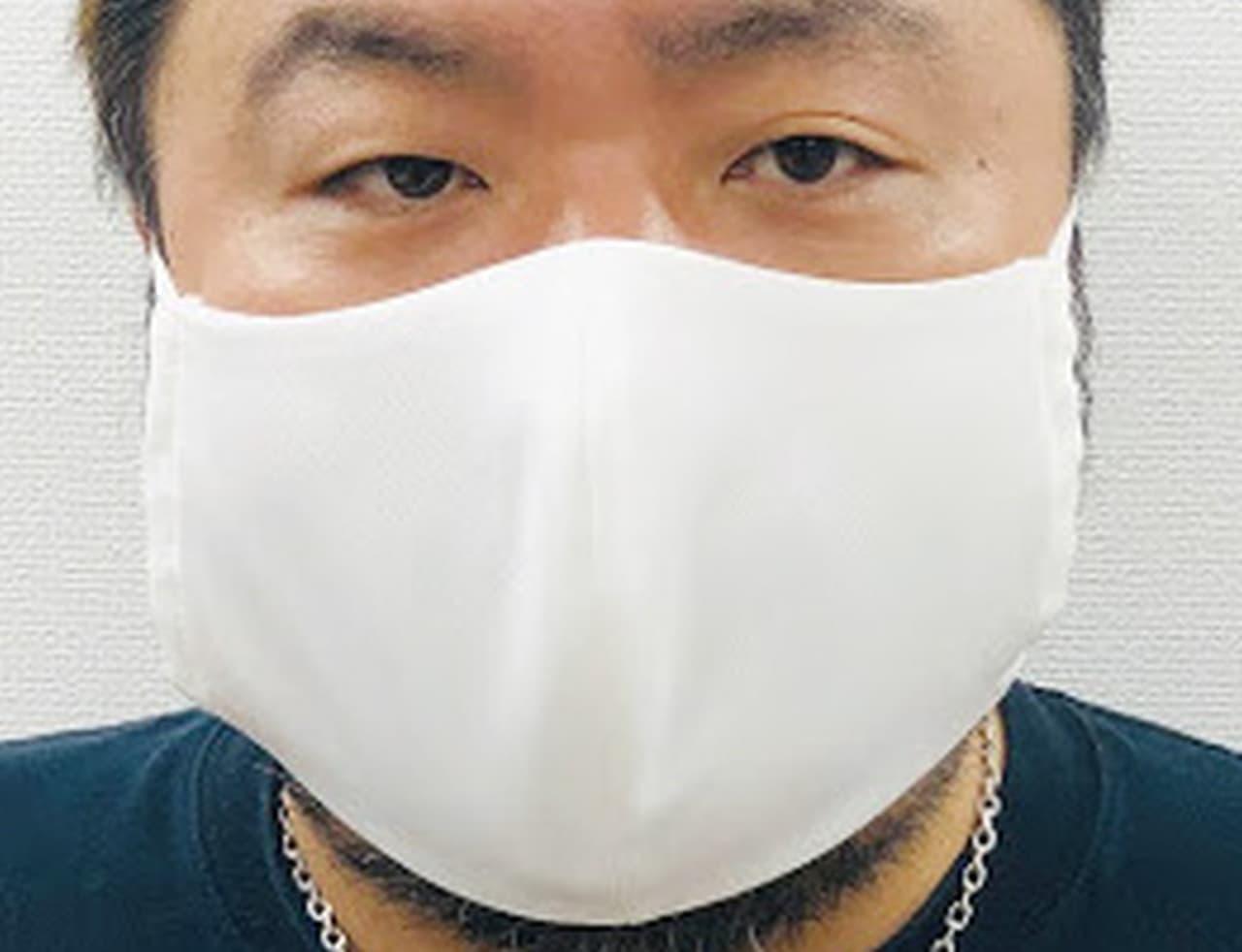 大きい!だから日焼けしない 「焼かないメガ布マスク」販売開始 - 小顔見せ効果も?