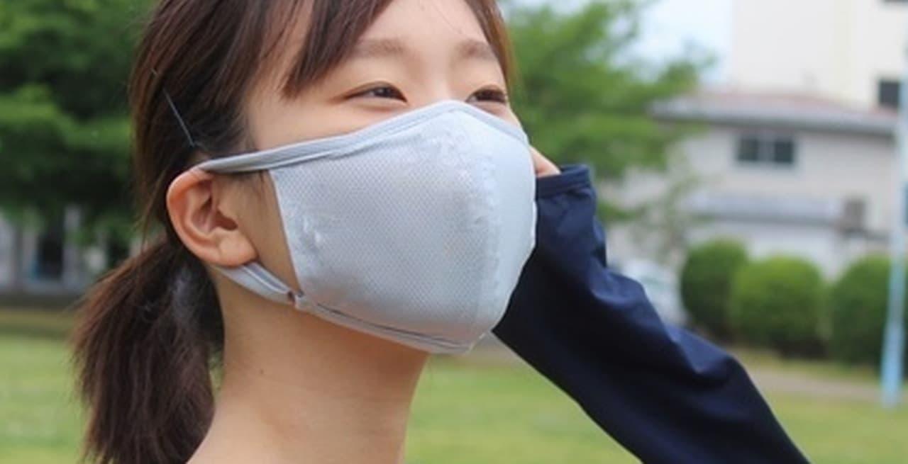 洗濯機で洗える!裏地に水着素材を採用したecomas「快適!メッシュ夏マスク」