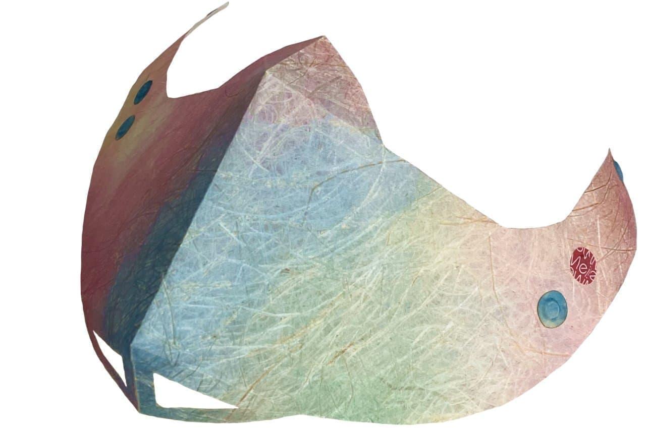 顔にほとんど触れないマスク!メガネに吊るす和紙ますく「Mei Mei/銘銘」 ― 折り紙をモデルにした斬新なシルエット