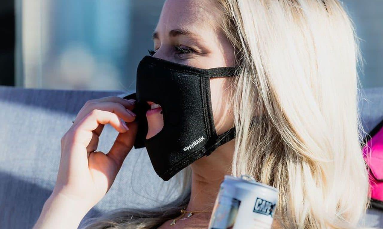 マスクをしたまま飲める 食べられる「sippyMASK」