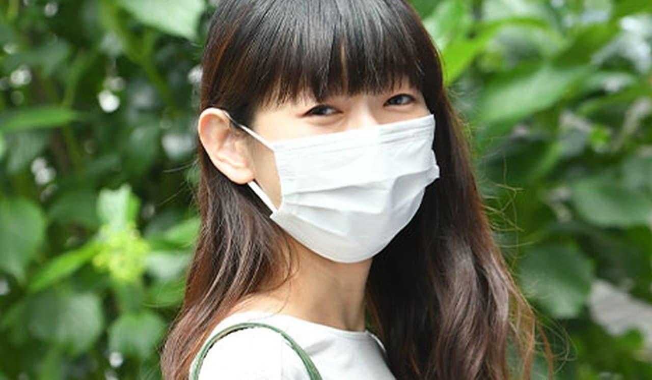 使い捨て不織布マスク なのに接触冷感!「接触冷感ひんやりマスク」増産対応