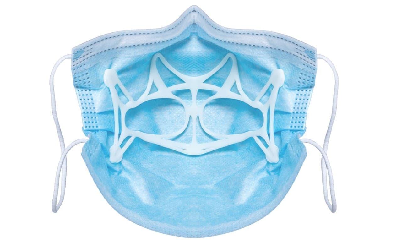 マスク装着時の息苦しさや喋りにくさを緩和する「立体インナーマスク ver.7」