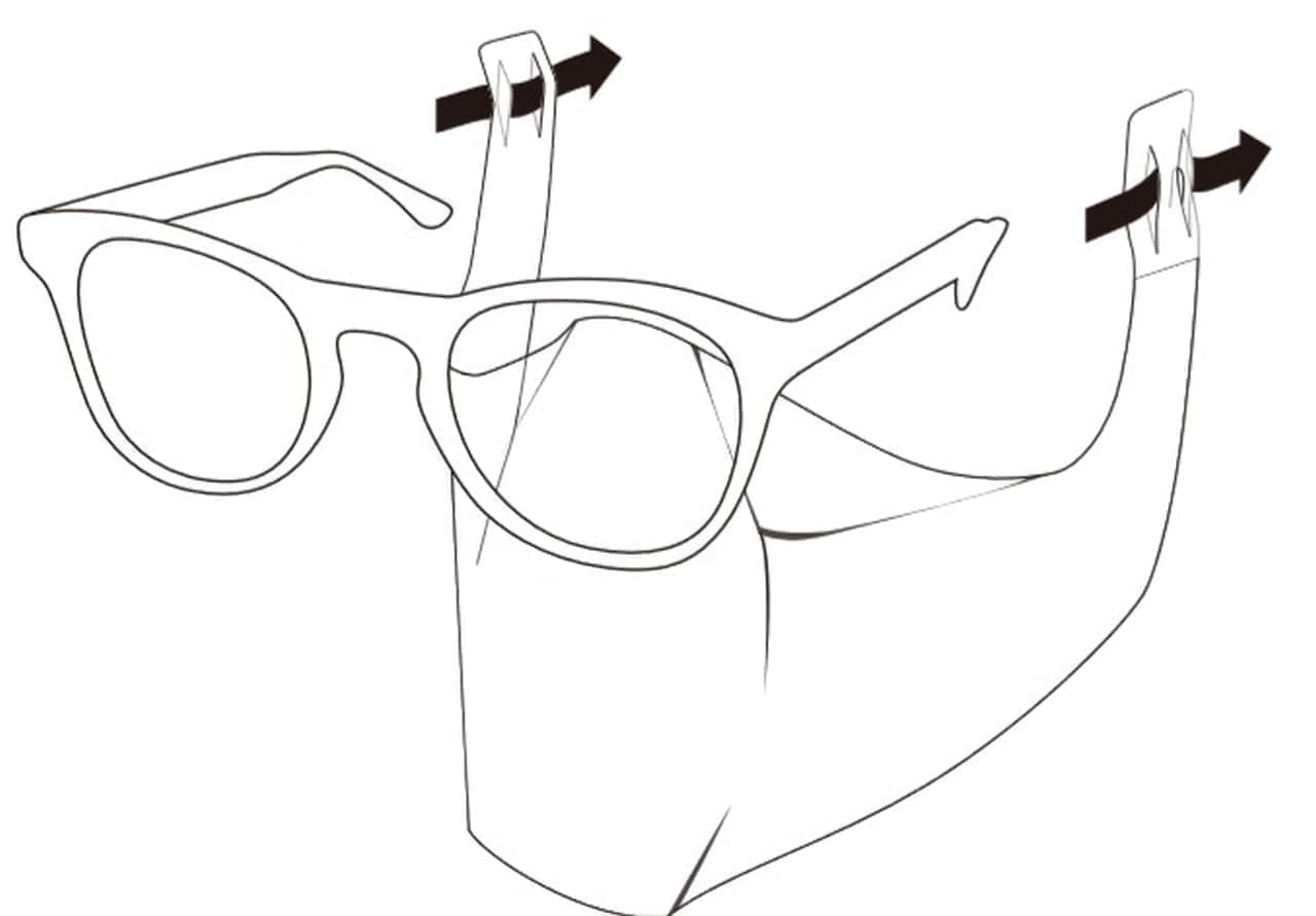メガネ装着型マスク「グラスマスク」 - 息がしやすい!軽い!!