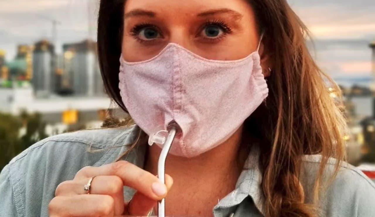 コロナ後も以前と同じ生活を送りたい そんな思いで生まれたマスク「Sipping Safely」