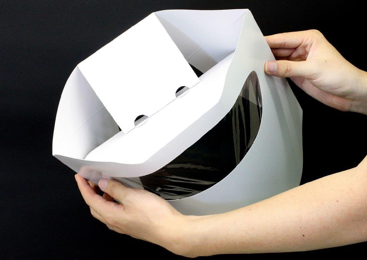 紙製の防護マスク「ハコデガード」にニューモデル!