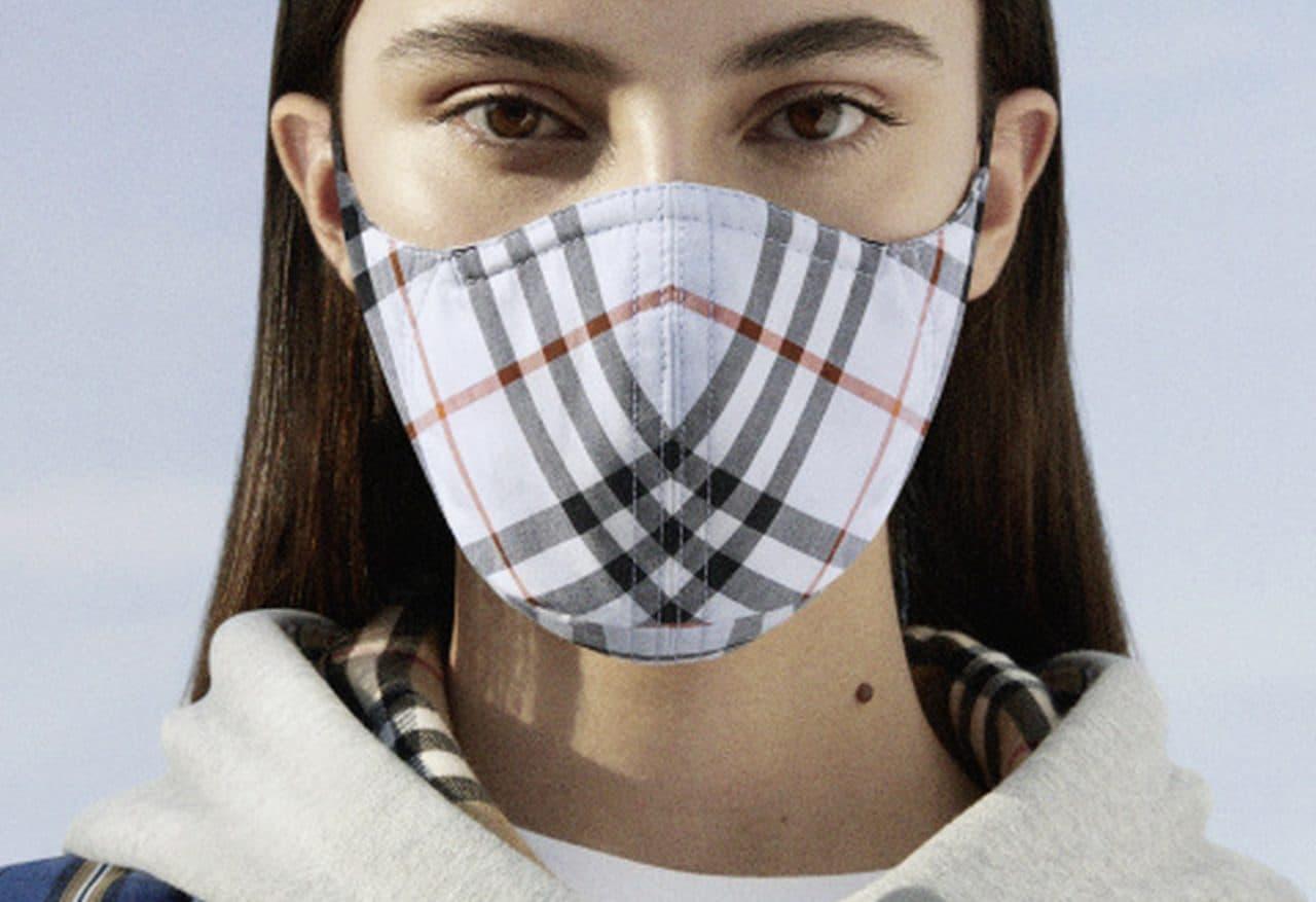 価格は1万6,500円 ― バーバリーが「ヴィンテージチェック コットン フェイスマスク」を発売