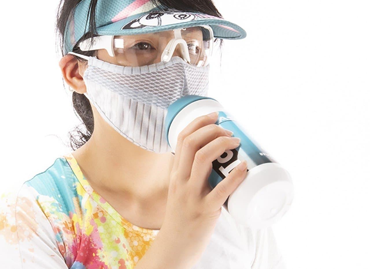 スポーツ中の給水に ― マスクをしたまま水を飲める Pandani「ウォーターマスク」