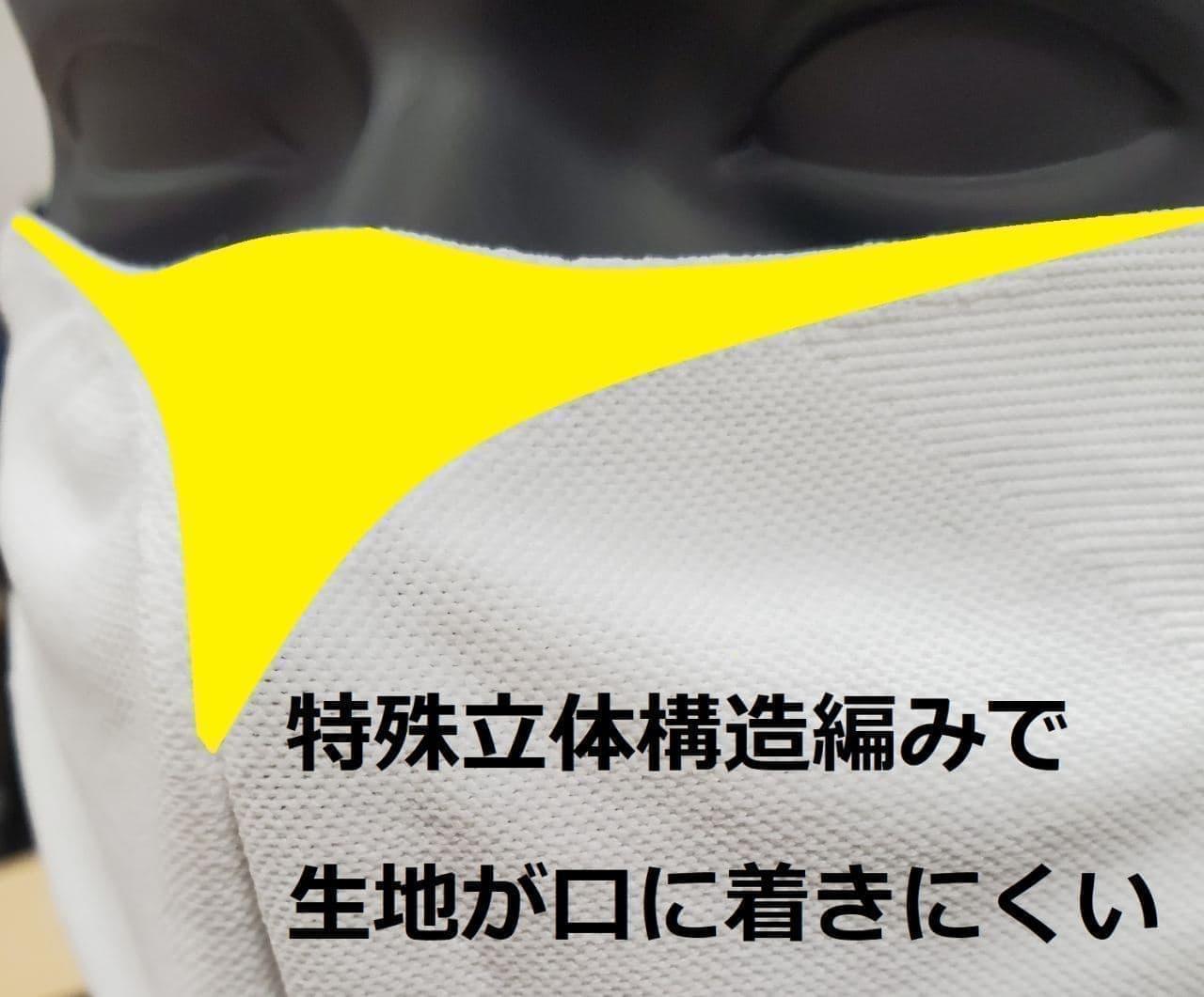 接触冷感&UVカットニットの「クールストレッチニットマスク」 創業100年のイイダ靴下から