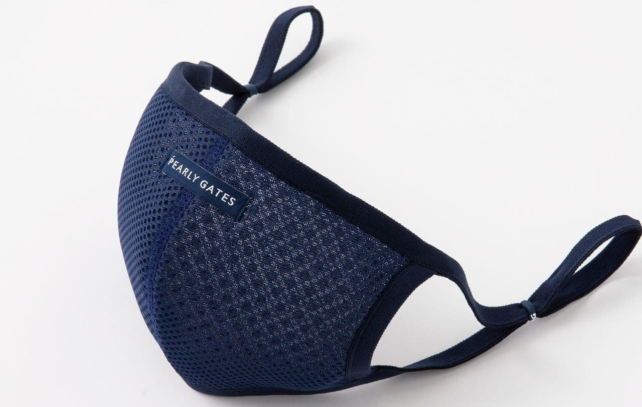パーリーゲイツがゴルフのためのマスク「ダブルラッセル 接触冷感マスク」
