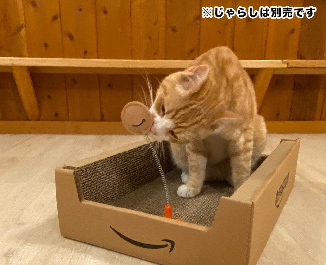 Amazonボックスのネコ用爪とぎは明日(9月5日)発売です