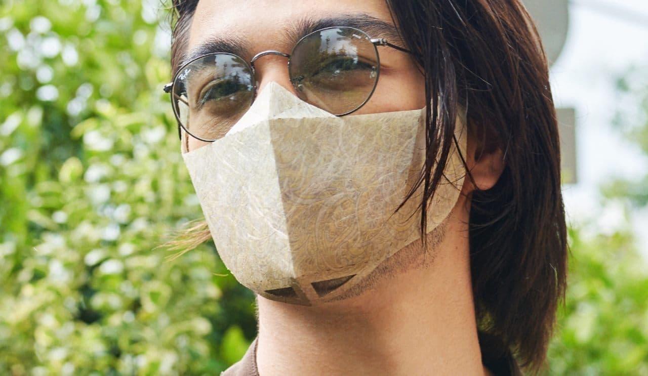 メガネに吊るす「和紙マスクMeiMei」にレイバンアウトレットショップ限定デザイン