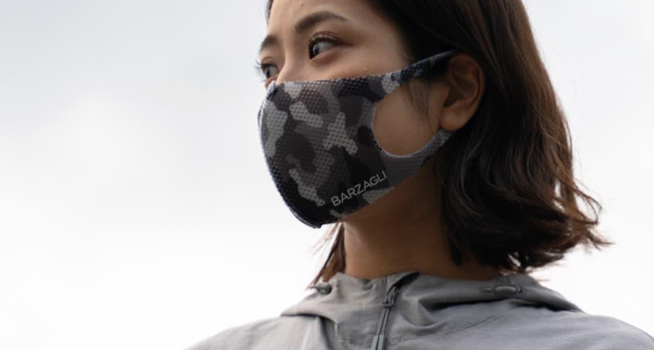 メッシュ100%! つけている感覚ほぼゼロのスポーツマスク「Barzagli Mask ZERO」に迷彩柄