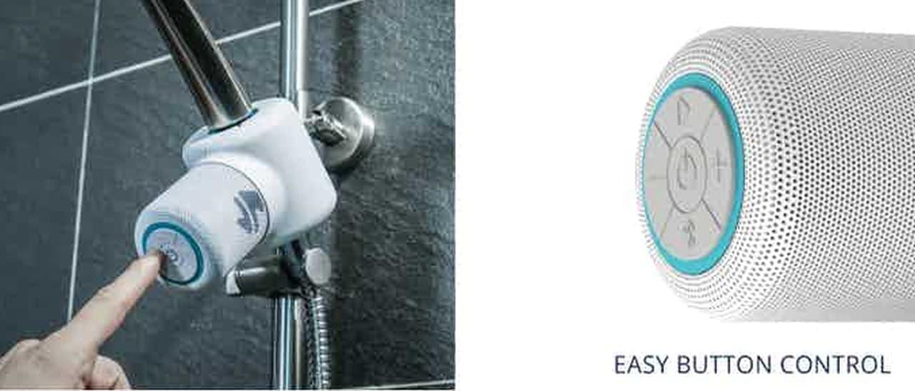 シャワーで水力発電! お風呂用Bluetoothスピーカー「Shower Power」