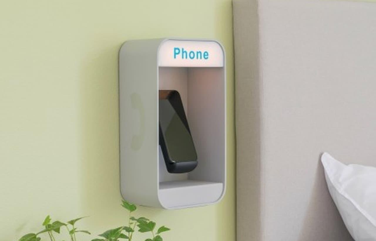 レトロな公衆電話ブースデザインのスマホ充電器「Smooth Operator」