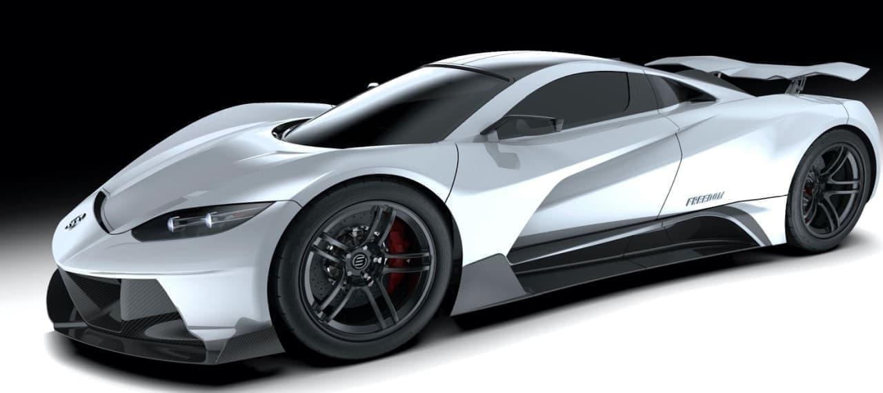 1,903馬力!ガルウイングのハイパーカー「Elation Freedom」 - 0-100km/h加速1.8秒