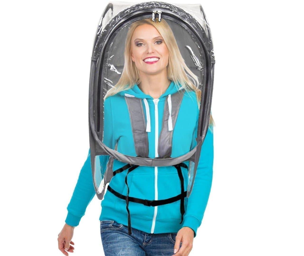 飛沫飛散を防ぐ「ShieldPod」 - 装着者と周囲の人に安心感を
