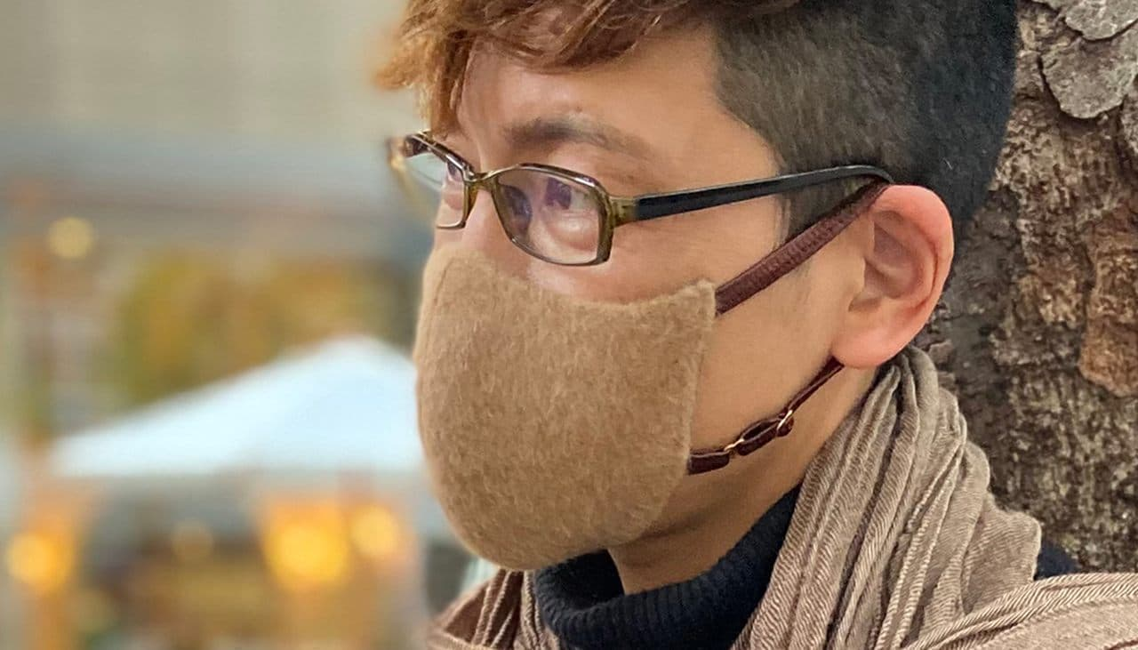 カシミヤ・アンゴラ・キャメルを使用したマスク Makuakeに登場