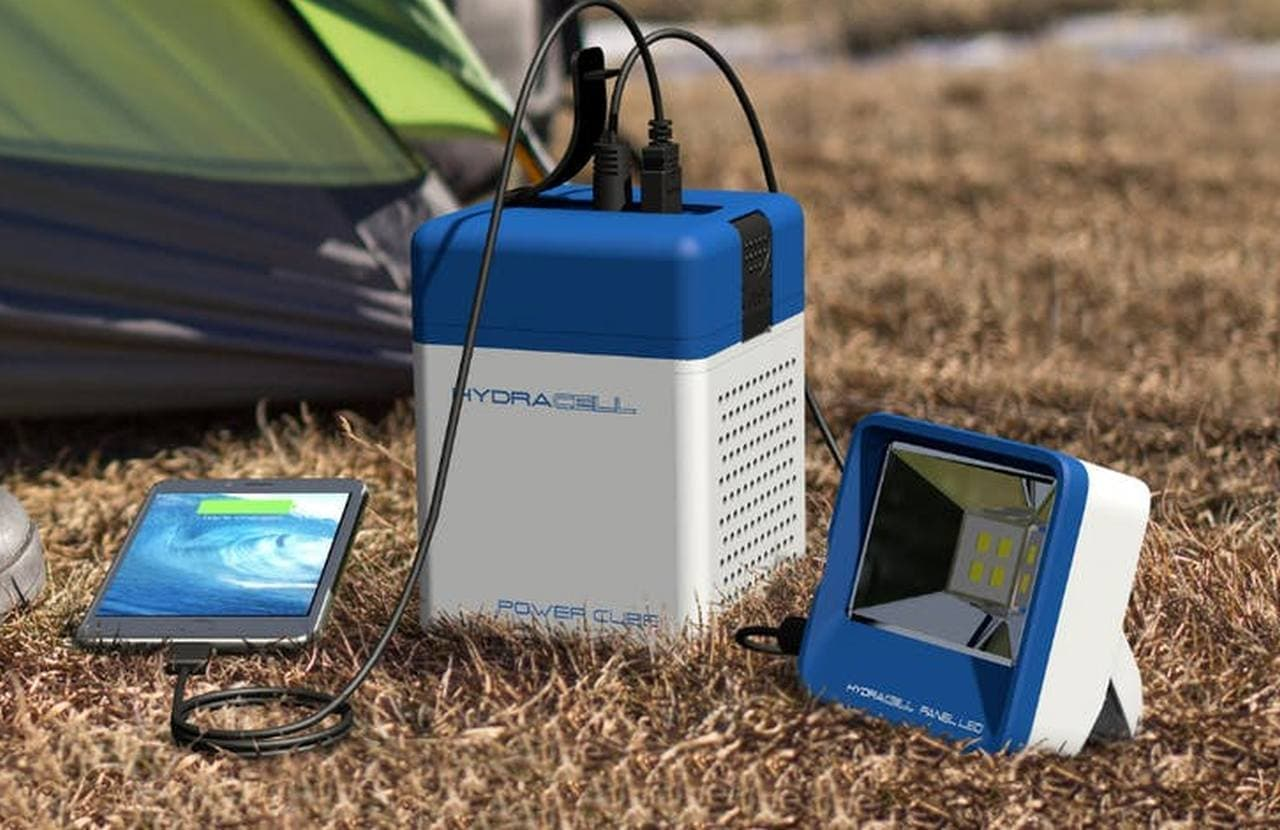 ポータブル発電器「HydraCell」Campfireに登場
