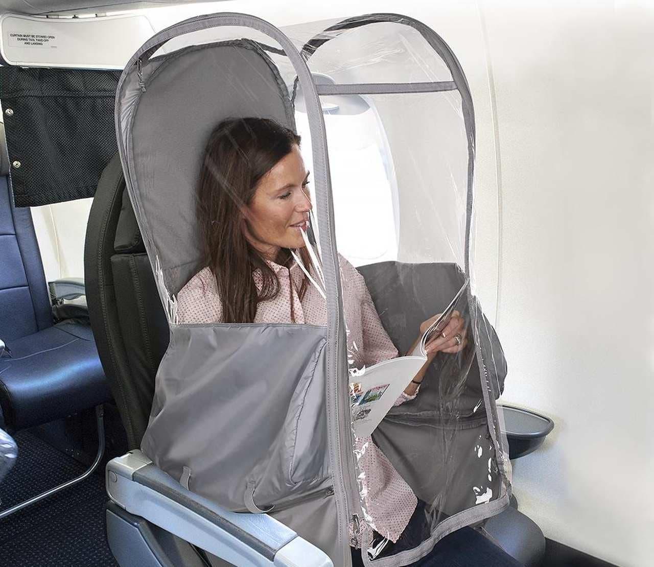 飛沫飛散を防ぐ「Protective Personal Pod」 - 小さく畳んで持ち運べる