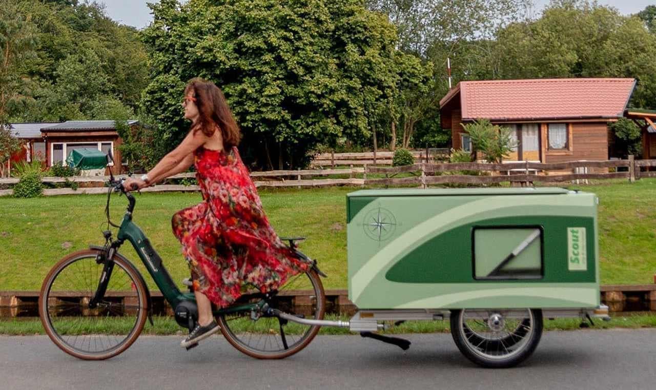 自転車でソロキャン! キャンピングトレーラーScoutシリーズ