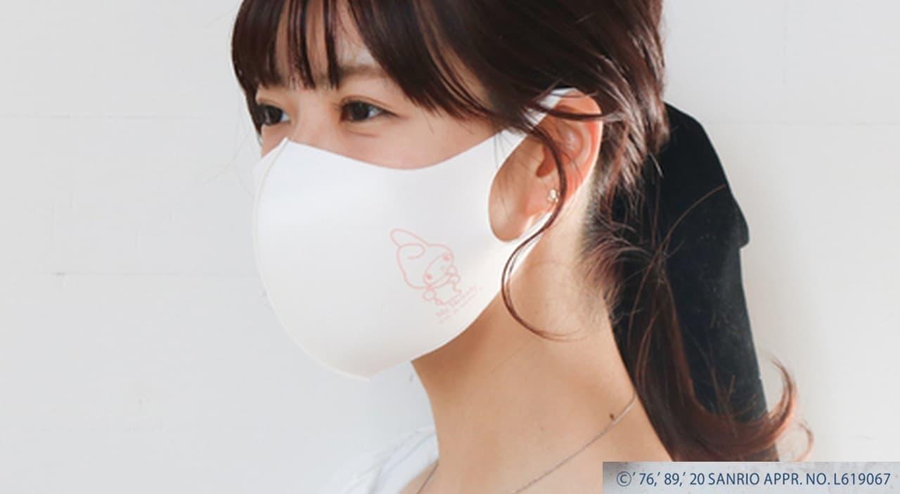 サンリオキャラクターズとブルーブルーエがコラボしたマスク&抗菌ポーチセット発売