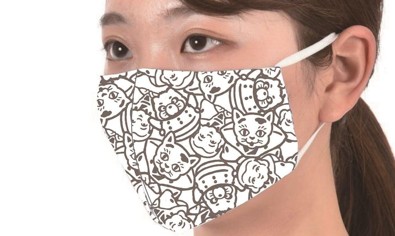 1月2日発売!福助「平成狸合戦ぽんぽこ」柄マスク