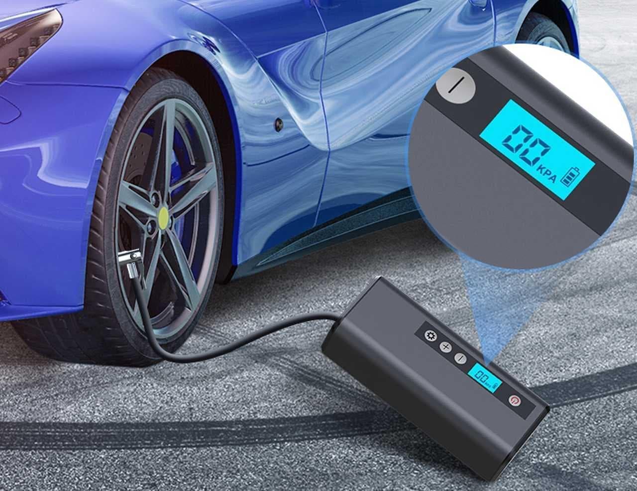 クルマやバイクのタイヤに空気を補充 コードレス電動空気入れ「K8」 Campfireで先行予約販売