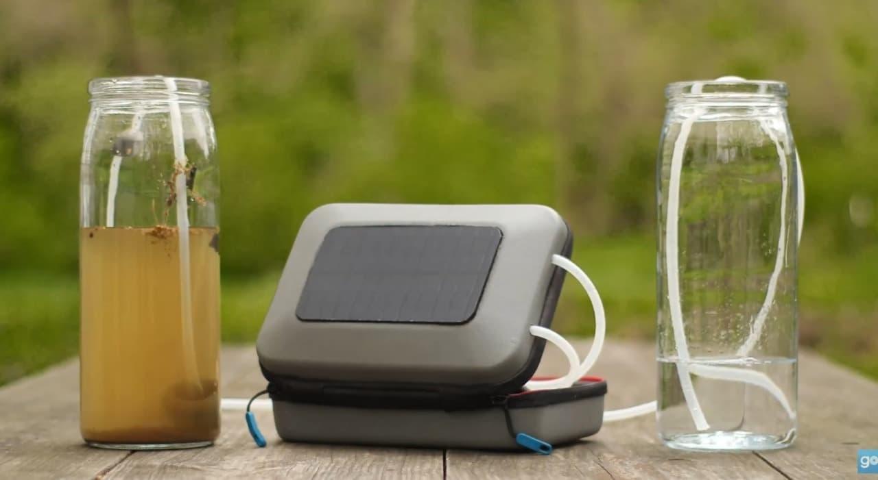 キャンプで便利なソーラー浄水器「GoSun Flow」