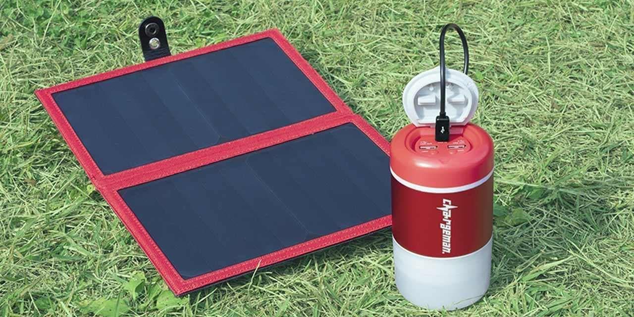 【キャンプにも停電時の備えにも】 自転車で充電するモバイルバッテリー「チャージマンレッド」