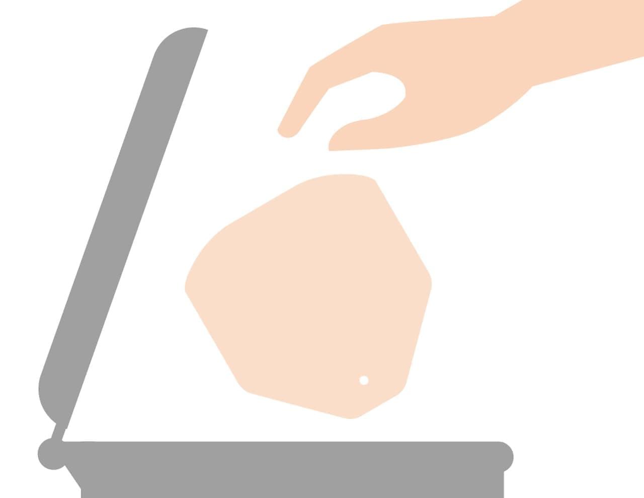 会食時専用紙マスク「おくちばん」発売 - 食べるときだけちょっとずらす