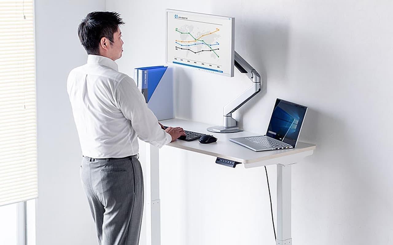 【テレワークに】自宅に設置できるスタンディングデスク発売 ― 仕事用チェアを置きたくない人に