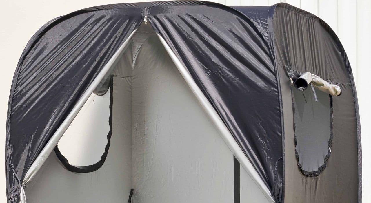 また、ファスナーで開閉可能なメッシュ付きの窓を左右2か所に設置したことで、風通しの良さを実現した。