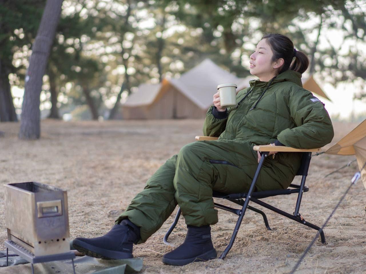 冬キャンに!人型防寒ウェア「ブクロマンX」 寒いキャンプ場のトイレでも脱がずに用を足せる