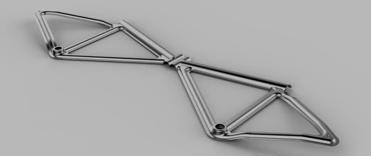 自転車をプレス加工で製造するLEAOSから従来工法で製造された「Rocket E- BIKE」